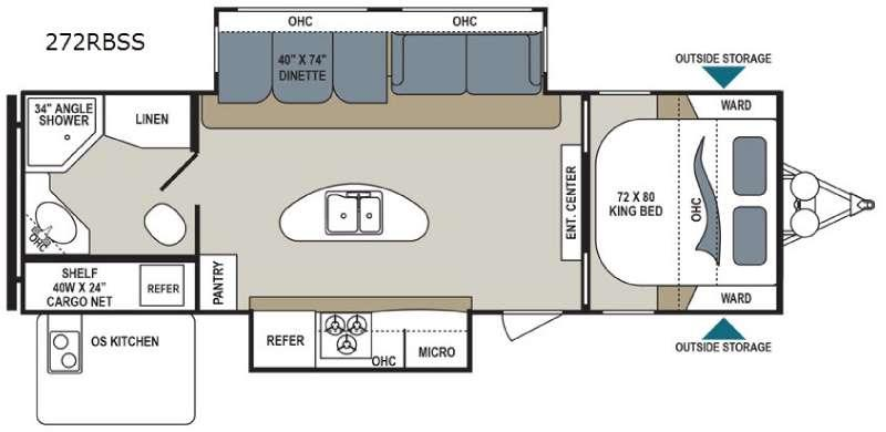 Floorplan - 2016 Dutchmen RV Aerolite 272RBSS