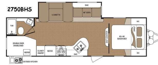 Floorplan - 2016 Dutchmen RV Aspen Trail 2750BHS
