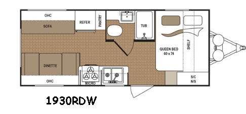 Floorplan - 2016 Dutchmen RV Aspen Trail 1930RDW