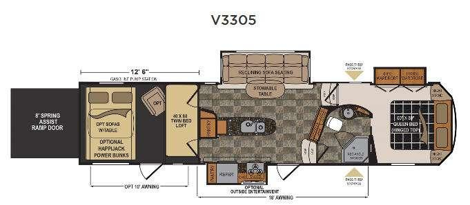 Floorplan - 2016 Dutchmen RV Voltage V-Series V3305
