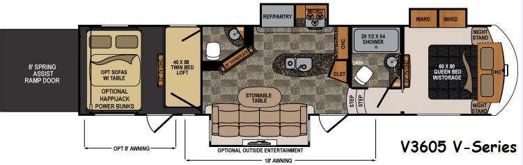 Floorplan - 2016 Dutchmen RV Voltage V-Series V3605