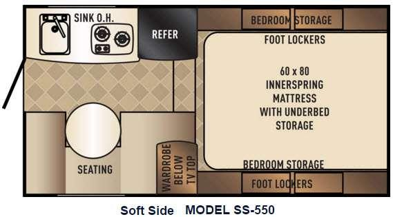 Floorplan - 2016 Backpack Edition SS 550 Truck Camper