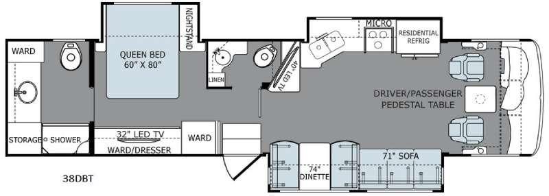 Ambassador 38DBT Floorplan Image