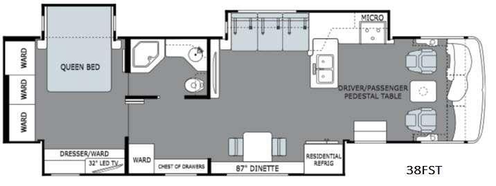 Ambassador 38FST Floorplan Image