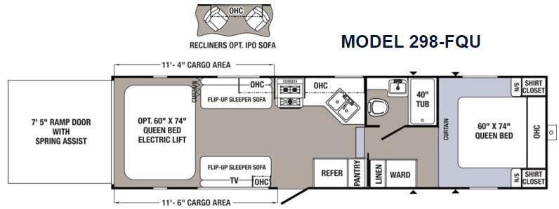 Floorplan - 2016 Palomino Puma Unleashed 298-FQU