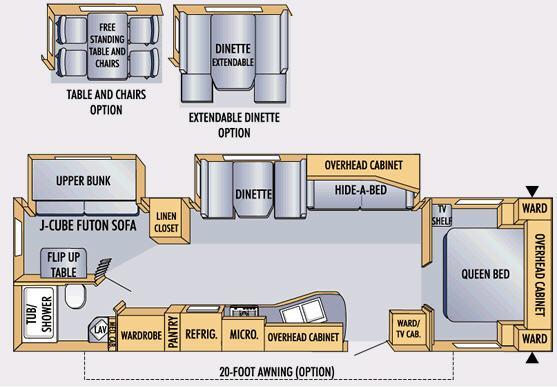 Floorplan - 2007 Jayco Eagle 314 BHDS
