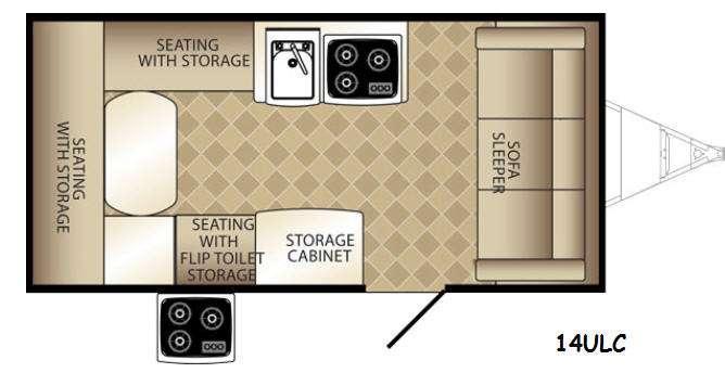 Basecamp 14ULC Floorplan Image