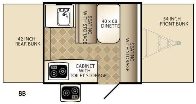 Floorplan - 2016 Palomino Basecamp 8B