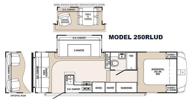 Floorplan - 2016 Palomino Sabre Silhouette 250RLUD