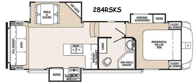 Sabre Silhouette 284RSKS Floorplan Image