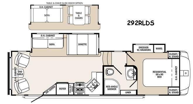 Sabre Silhouette 292RLDS Floorplan Image