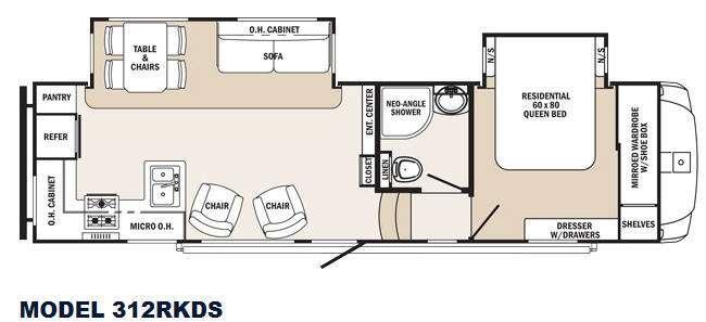 Sabre Silhouette 312RKDS Floorplan Image