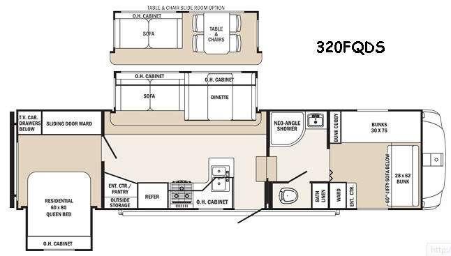 Sabre Silhouette 320FQDS Floorplan Image