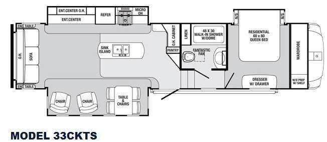 Sabre 33CKTS Floorplan Image