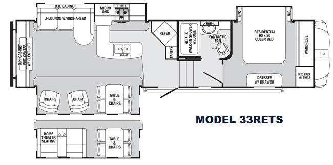 Sabre 33RETS Floorplan Image