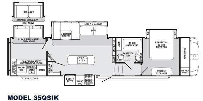 Sabre 35QSIK Floorplan Image