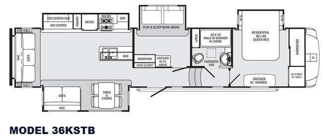 Sabre 36KSTB Floorplan Image