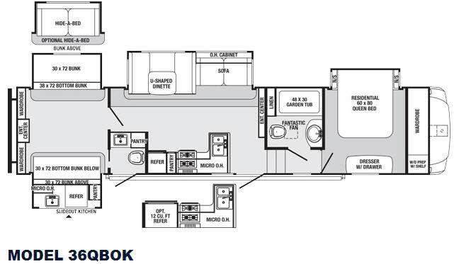 Sabre 36QBOK Floorplan Image
