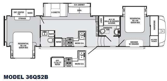 Sabre 36QS2B Floorplan Image