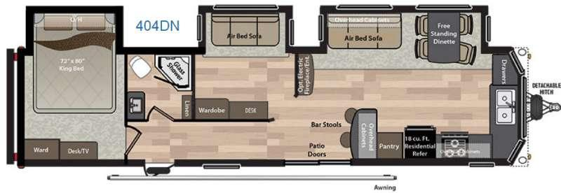 Residence 404DN Floorplan Image