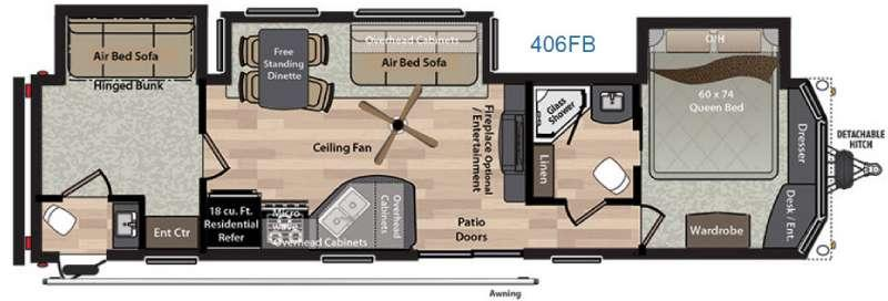 Residence 406FB Floorplan Image