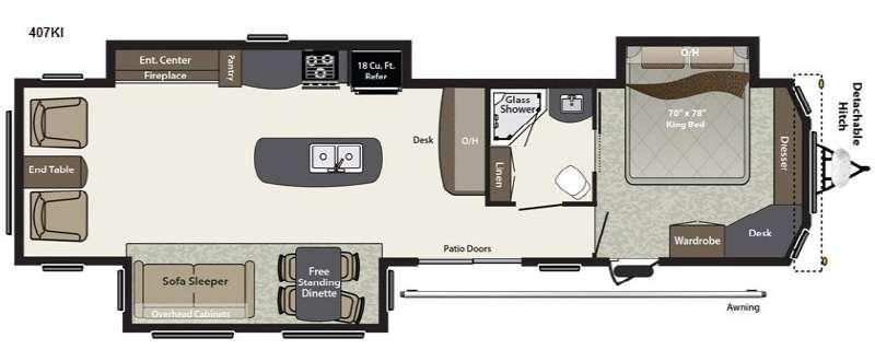 Residence 407KI Floorplan Image