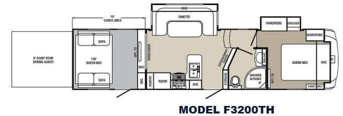 Columbus F3200TH Floorplan Image