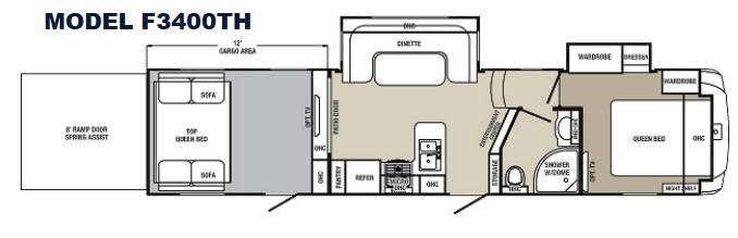 Columbus F3400TH Floorplan Image