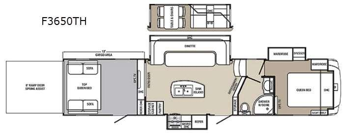 Columbus F3650TH Floorplan Image