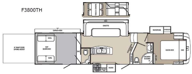Columbus F3800TH Floorplan Image