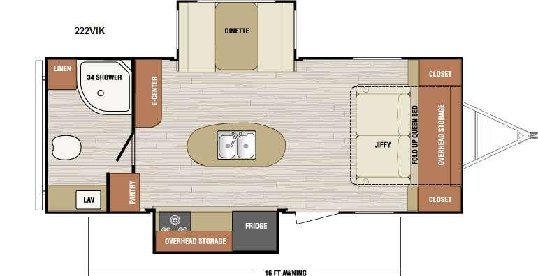 Floorplan - 2016 Venture RV SportTrek 222VIK