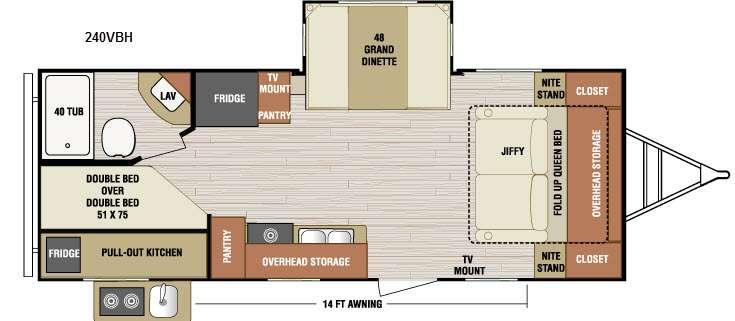 Floorplan - 2016 Venture RV SportTrek 240VBH