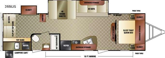 Floorplan - 2016 Venture RV SportTrek 310VJS