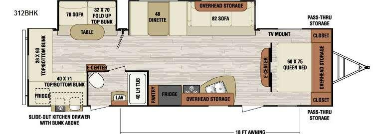 Floorplan - 2016 Venture RV SportTrek 312BHK