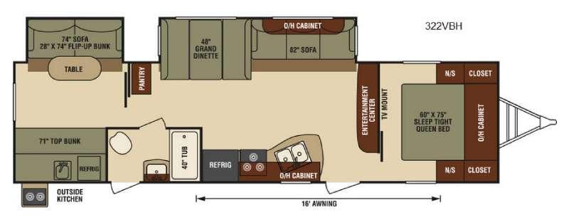 Floorplan - 2016 Venture RV SportTrek 322VBH