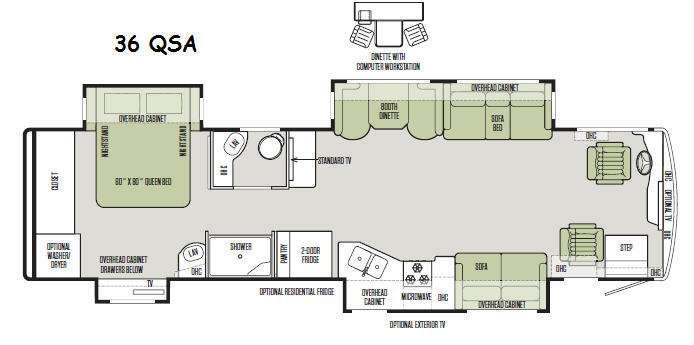 Allegro RED 36 QSA Floorplan Image