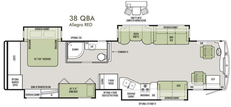 Allegro RED 38 QBA Floorplan Image