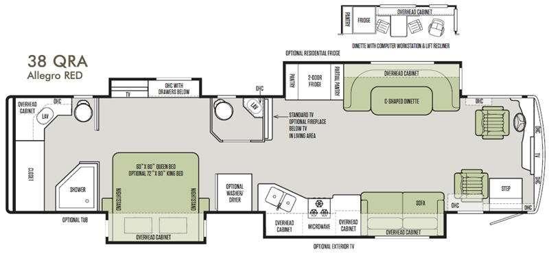 Allegro RED 38 QRA Floorplan Image