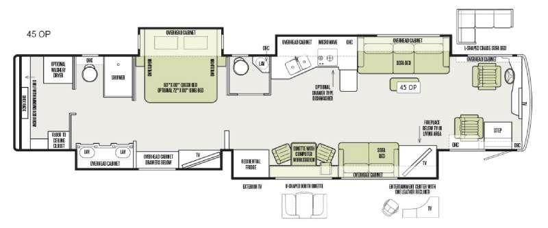 Floorplan - 2016 Tiffin Motorhomes Allegro Bus 45 OP