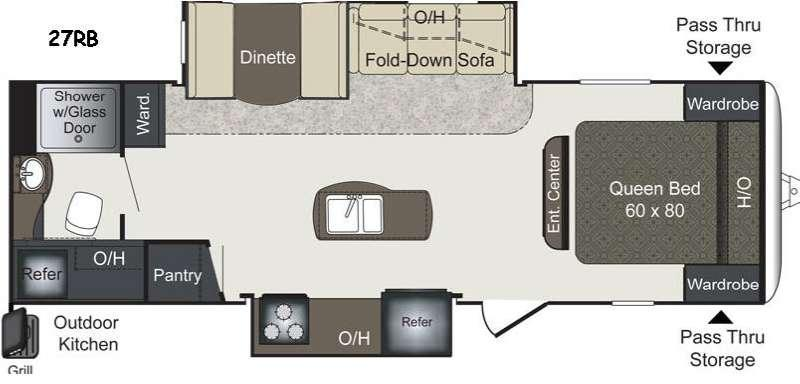 Floorplan - 2016 Keystone RV Laredo LHT 27RB