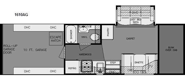 Floorplan - 2015 Renegade Garage 1610AG
