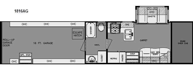 Floorplan - 2015 Renegade Garage 1816AG