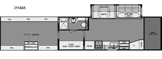 Floorplan - 2015 Renegade Garage 2114AK