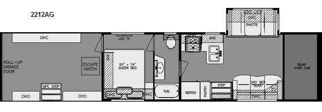 Floorplan - 2015 Renegade Garage 2212AG