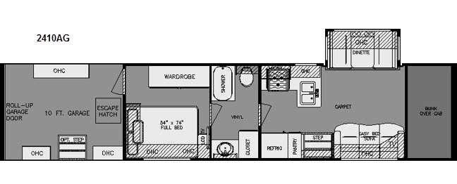 Floorplan - 2015 Renegade Garage 2410AG