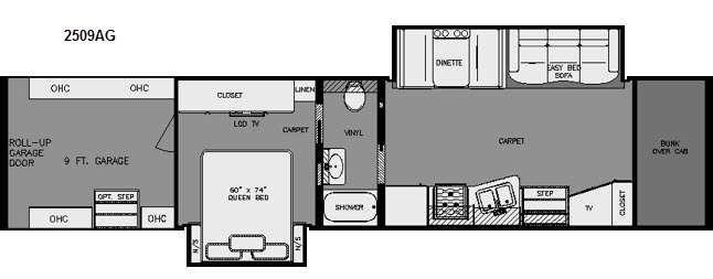Floorplan - 2015 Renegade Garage 2509AG