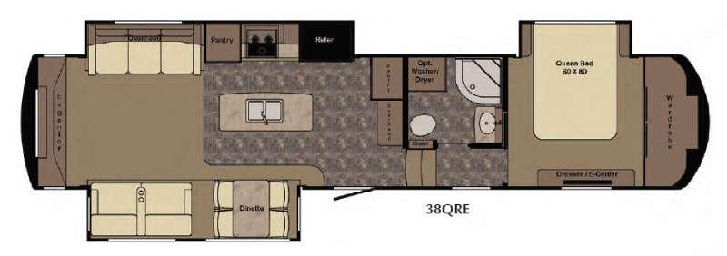 Floorplan - 2016 Redwood RV Sequoia SQ38QRE