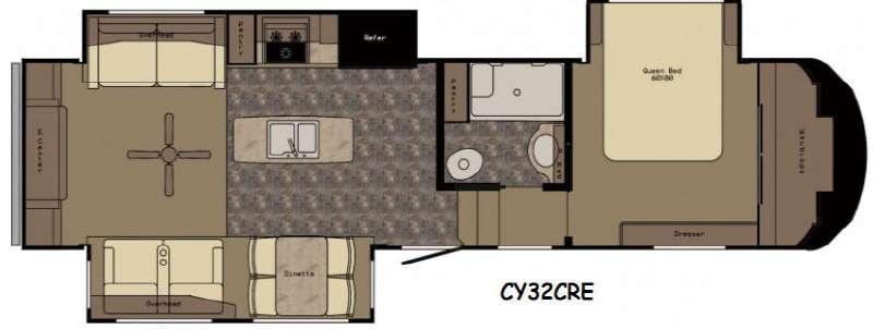 Floorplan - 2016 Redwood RV Cypress CY32CRE