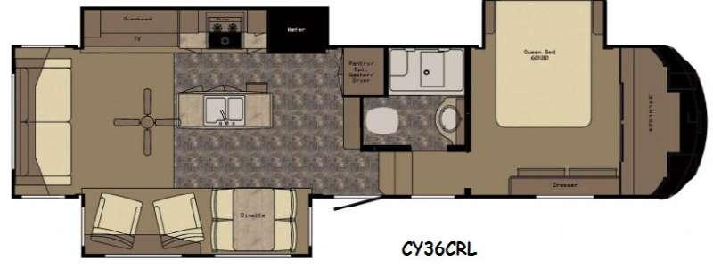 Floorplan - 2016 Redwood RV Cypress CY36CRL