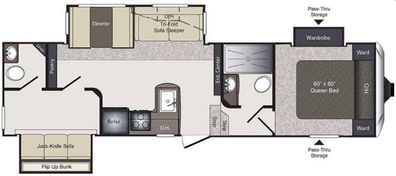 Floorplan - 2016 Keystone RV Laredo Super Lite 293SBH